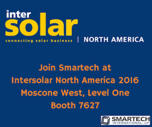 Smartech To Attend Intersolar North America 2016 | Smartech International